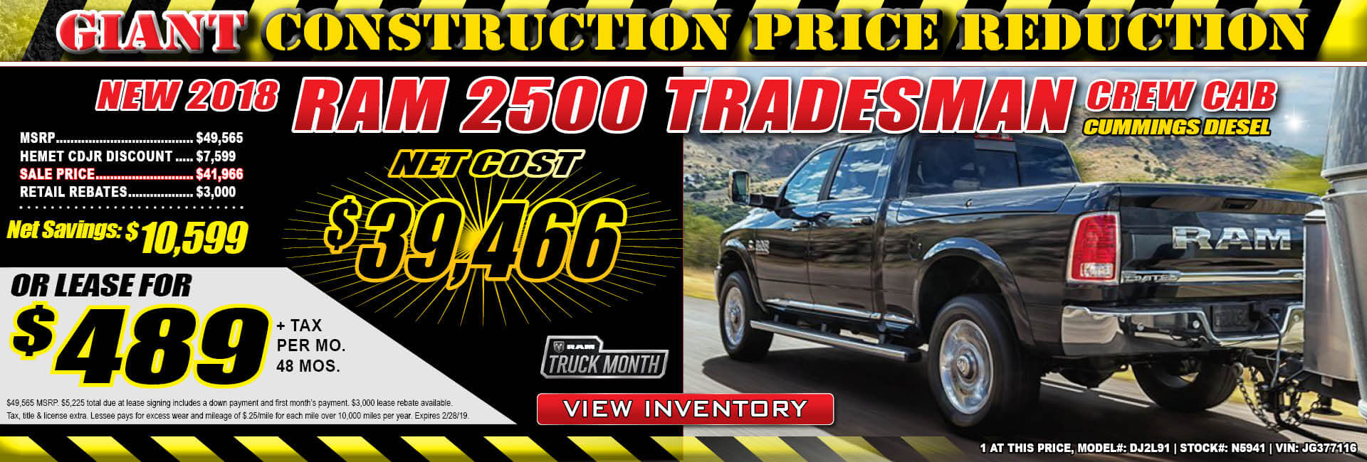 Ram 2500 Lease $489