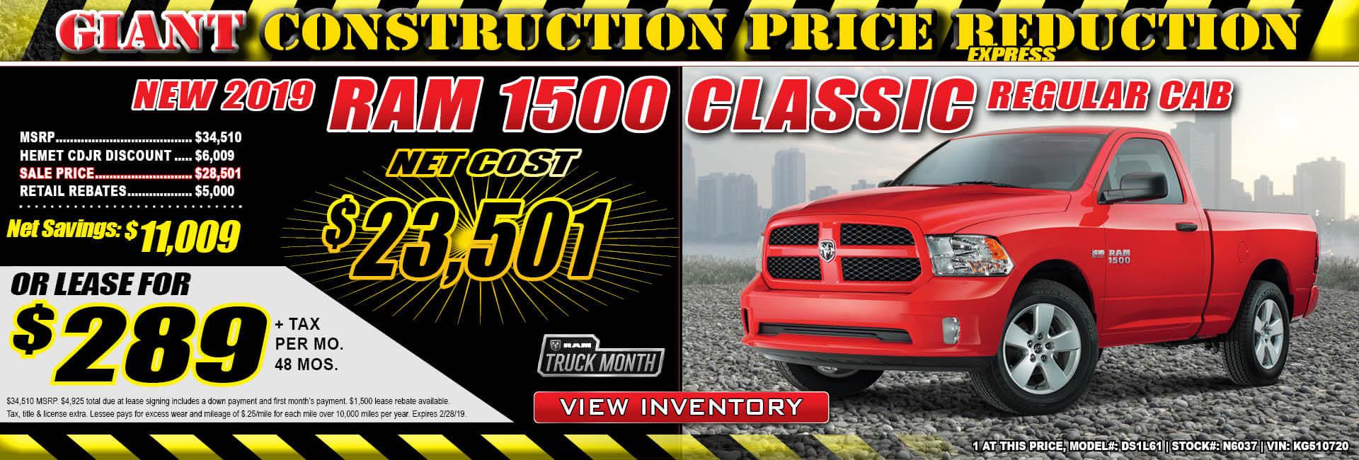 Ram 1500 Lease $289