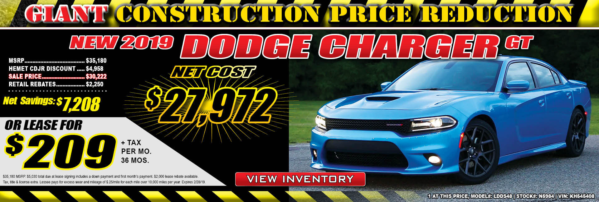 Dodge Charger Lease $209