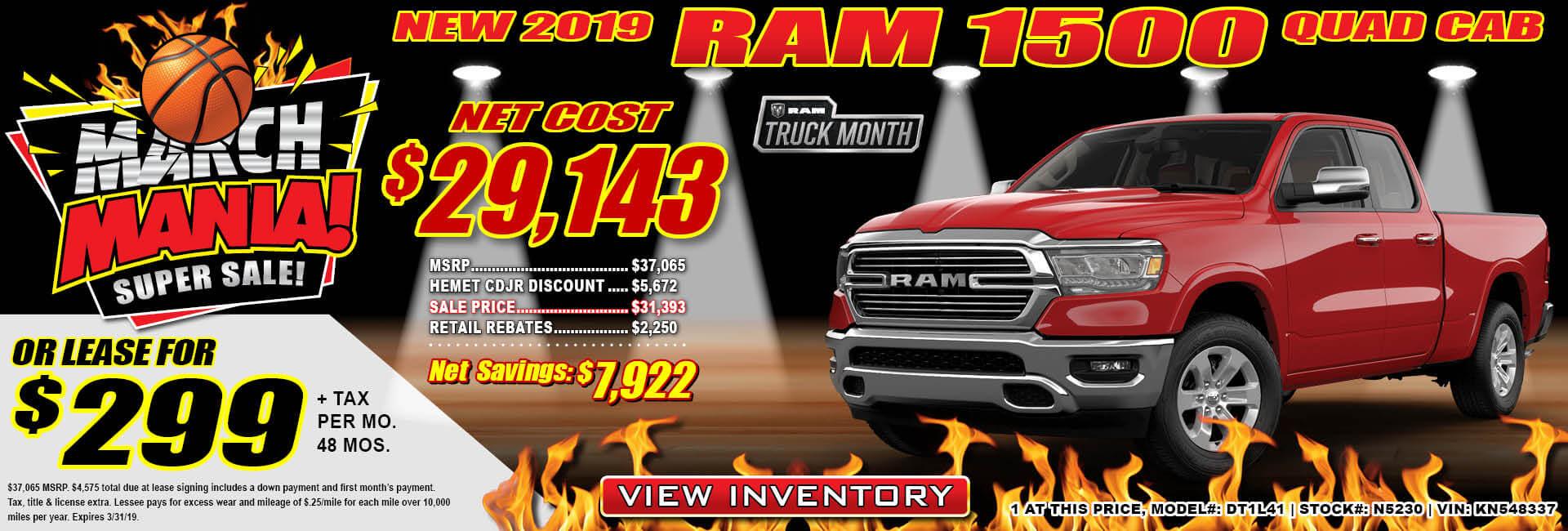 Ram 1500 Lease $299