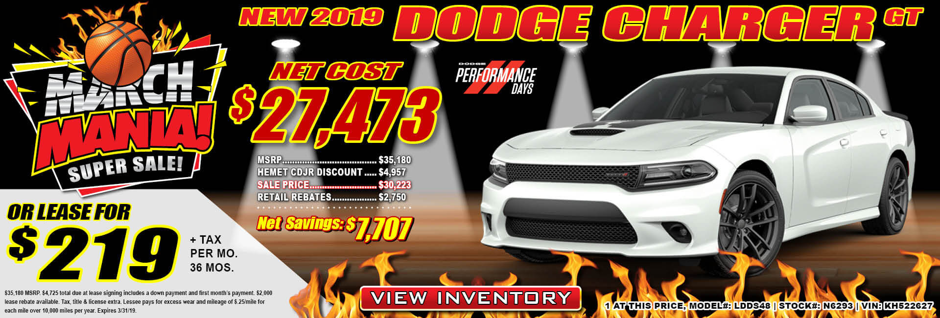 Dodge Charger Lease $219