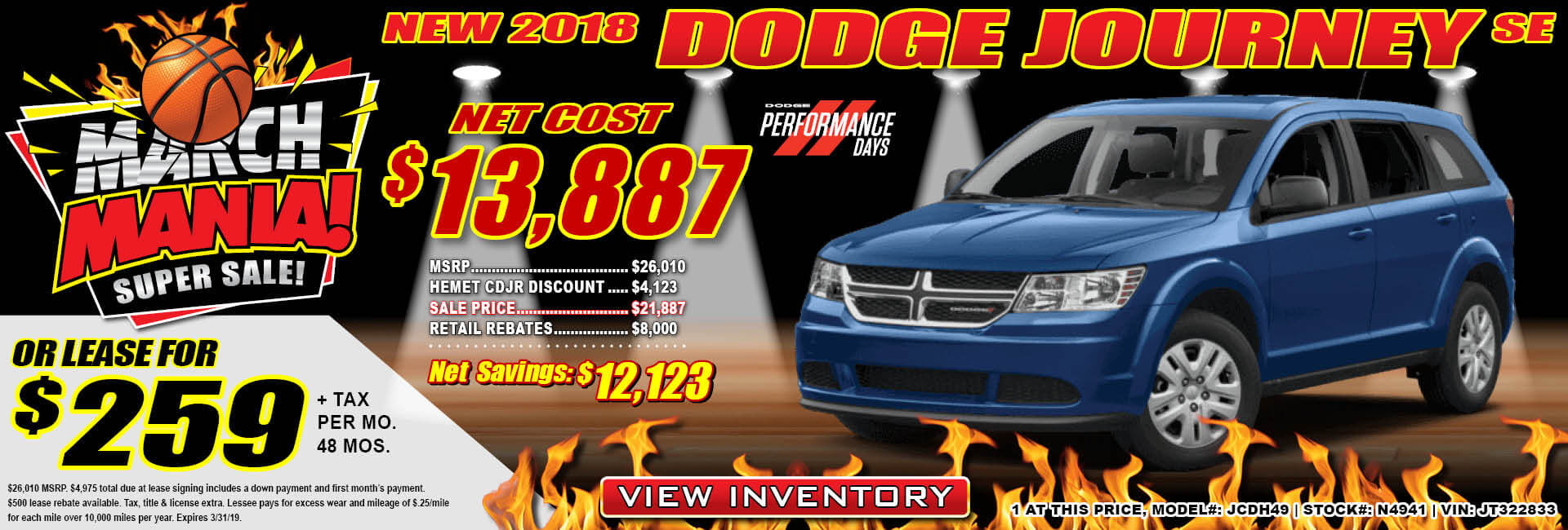 Dodge Journey $259 Lease