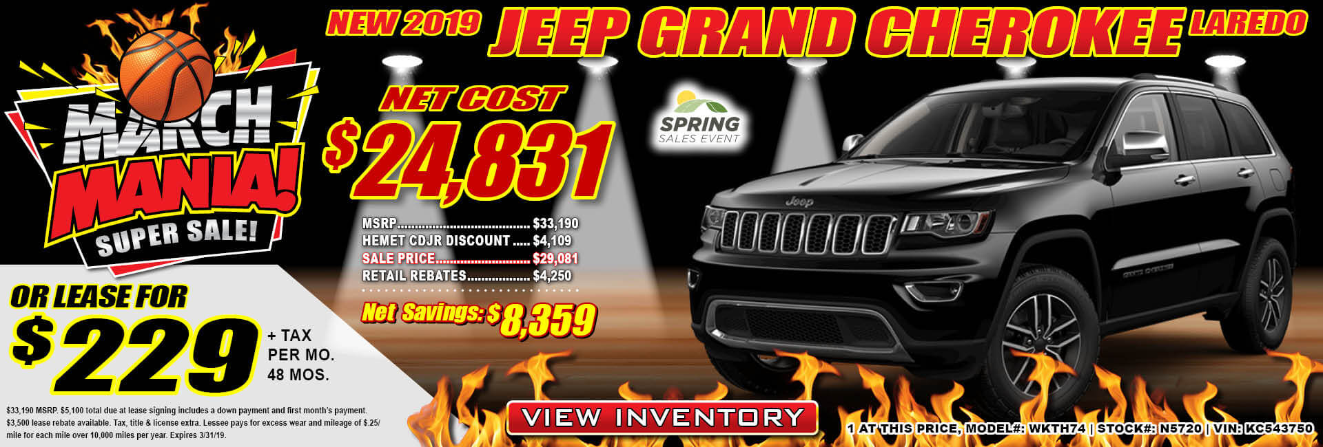Jeep Grand Cherokee $229 Lease