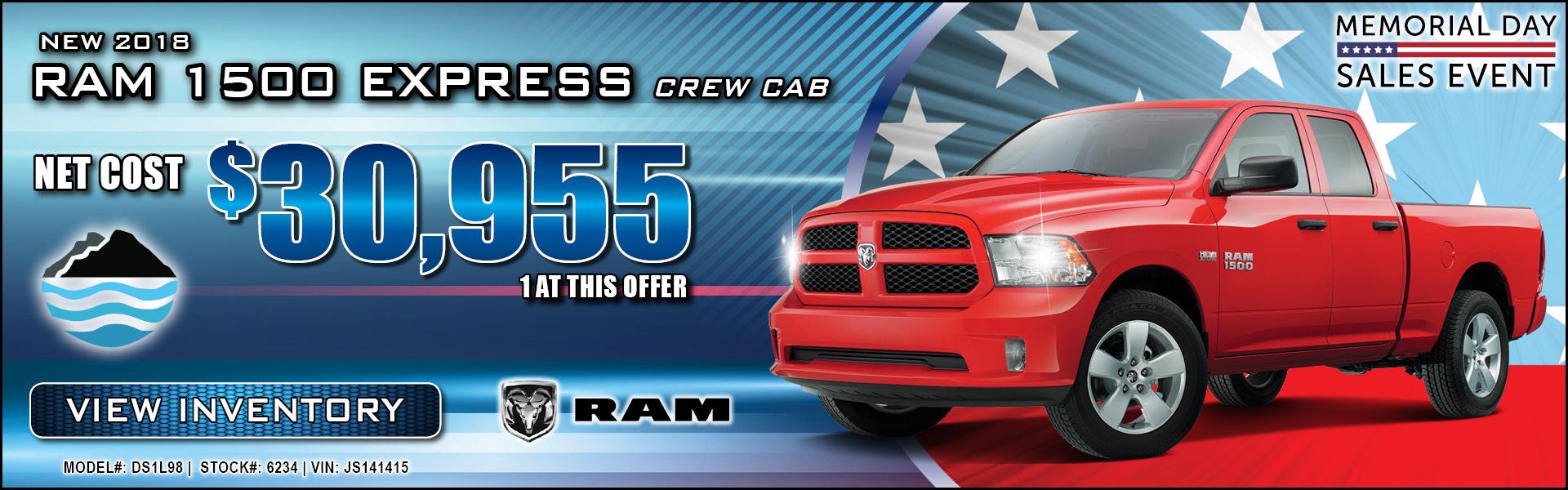 Ram 1500 Express Crew Cab $30,955