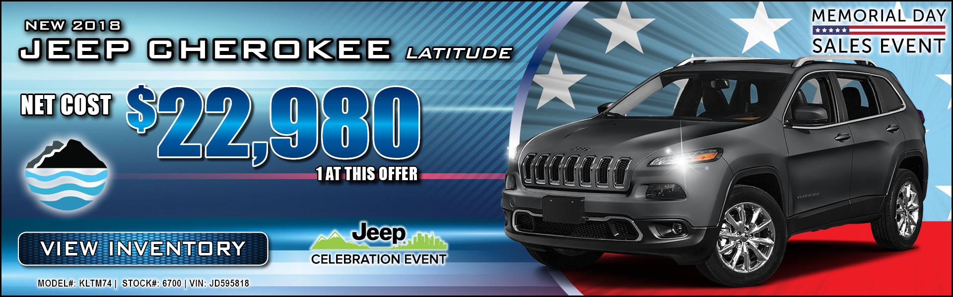 Jeep Cherokee $22,980