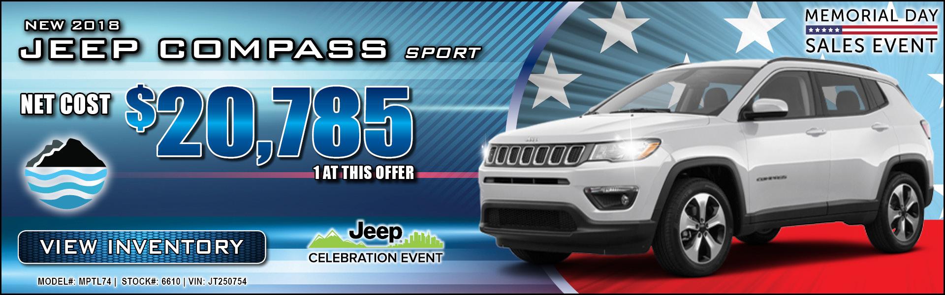 Jeep Compass $20,785
