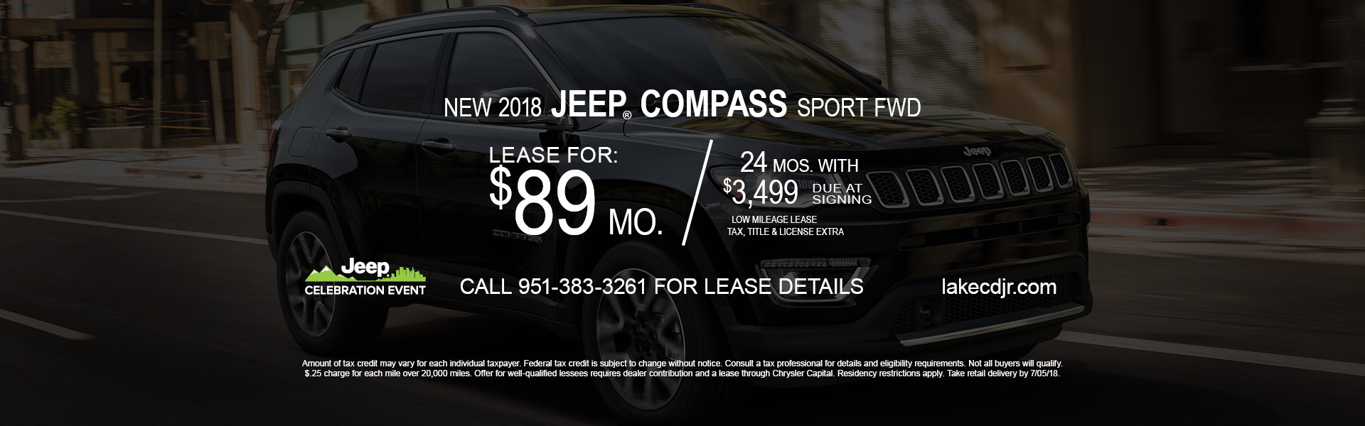 Jeep Compass $89 Lease
