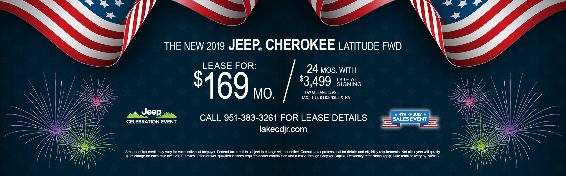 Jeep Cherokee Latitude $169 Lease
