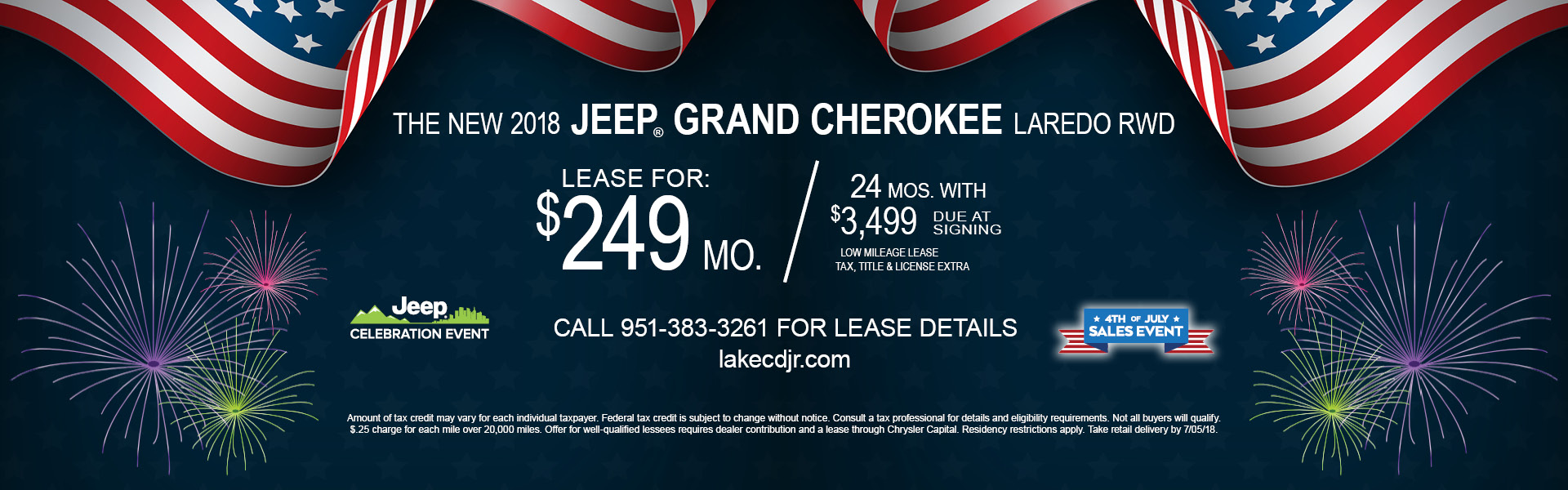 Jeep Grand Cherokee Laredo $249 Lease