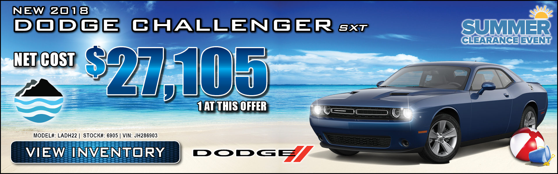 Dodge Challenger $27,105