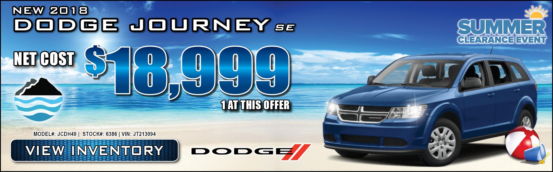 Dodge Journey $18,999