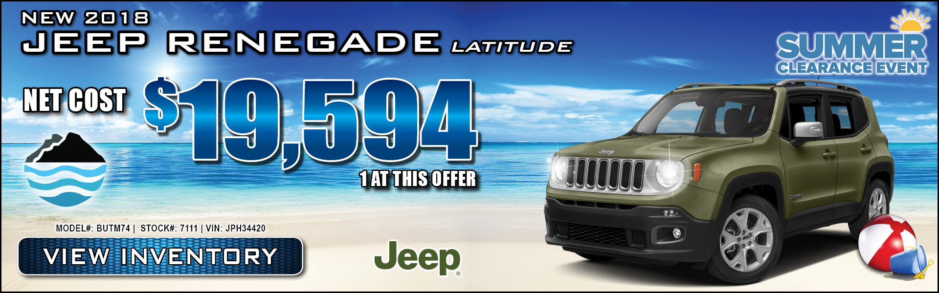 Jeep Renegade $19,594