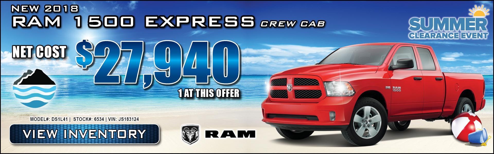 Ram 1500 Express $27,940