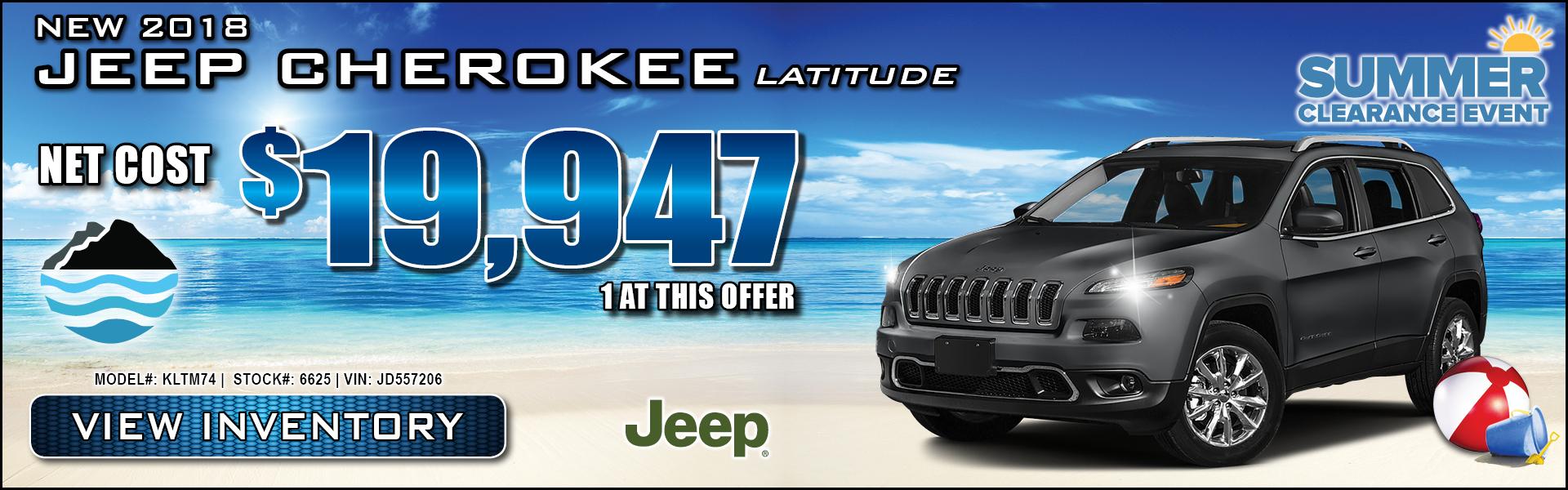 Jeep Cherokee $19,947