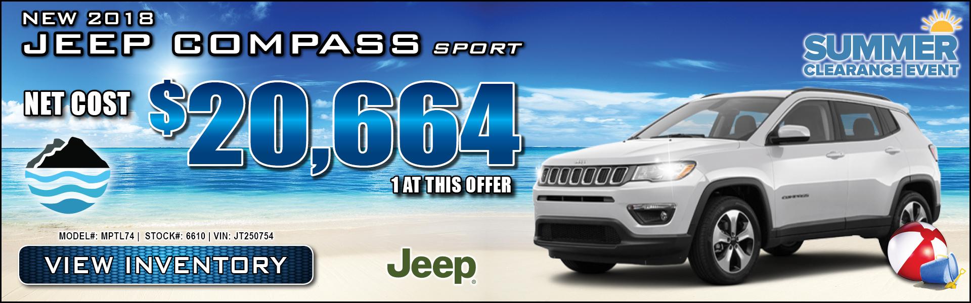 Jeep Compass $20,664