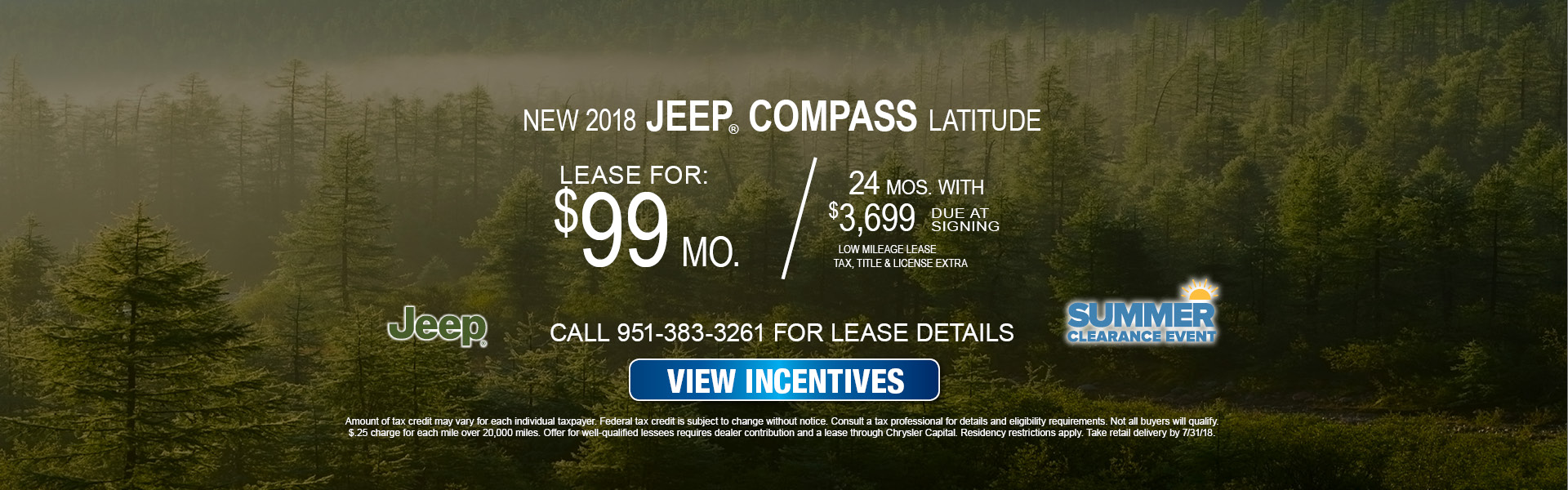 Jeep Compass $99 Lease