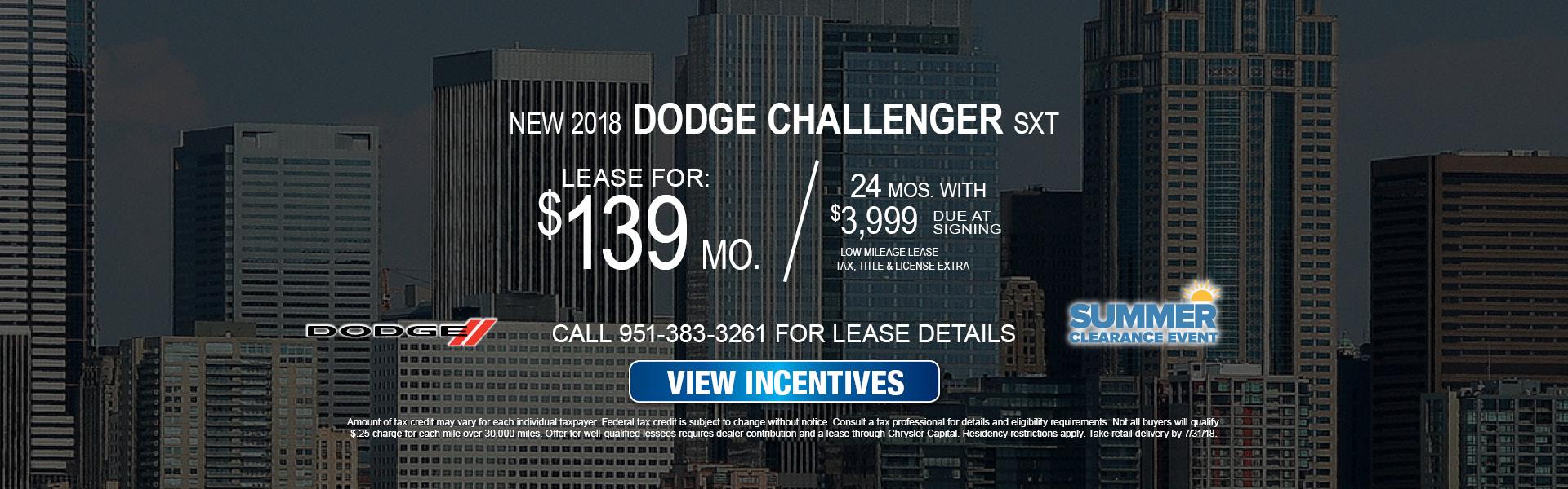 Dodge Challenger $139 Lease