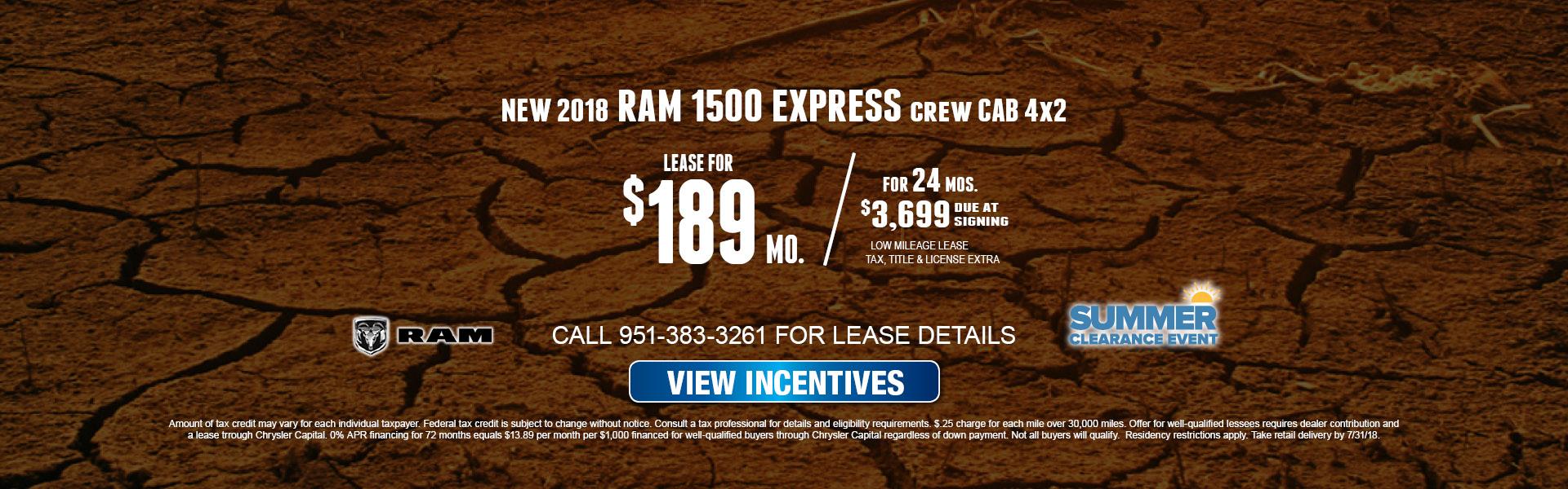 Ram 1500 Express $189 Lease