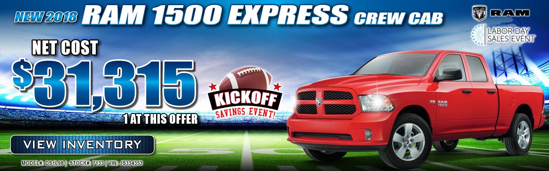 Ram 1500 Express $31,315