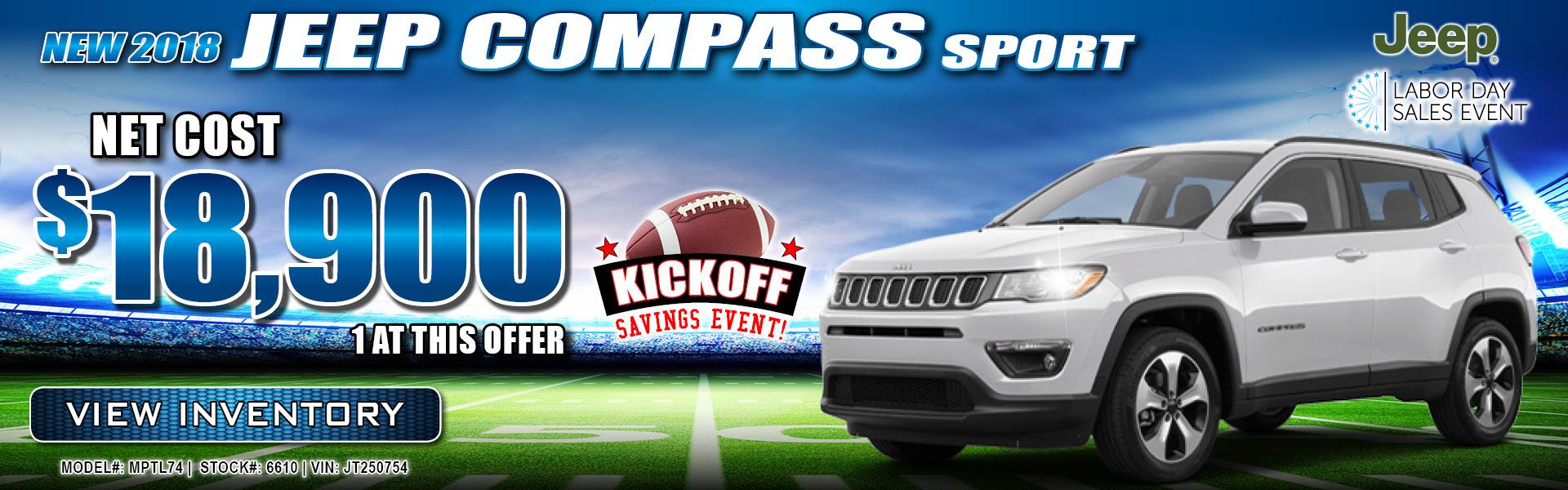 Jeep Compass $18,900