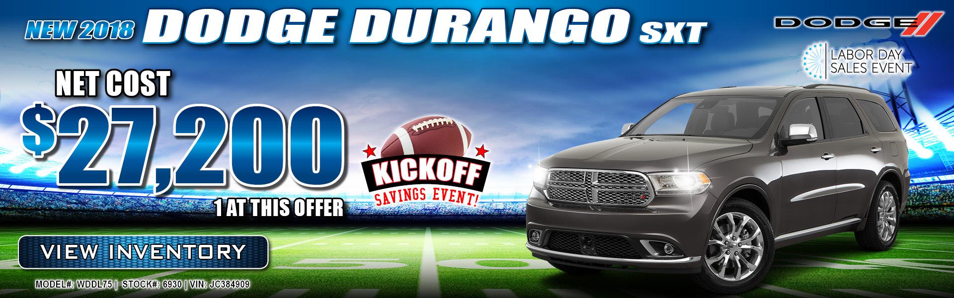 Dodge Durango $27,200