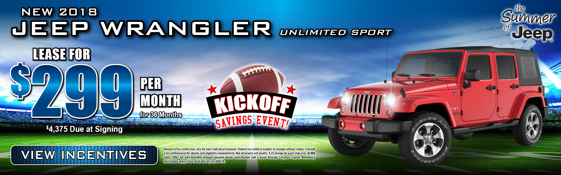 Jeep Wrangler Unlimited $299 Lease