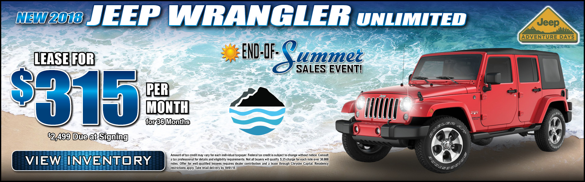 Jeep Wrangler Unlimited $315 Lease