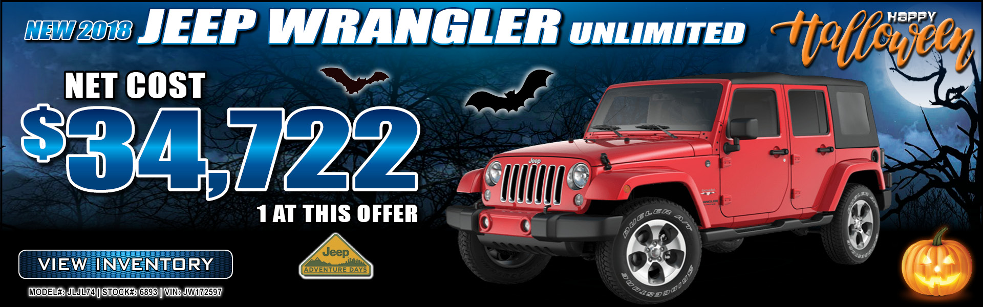 Jeep Wrangler Unlimited $34,722