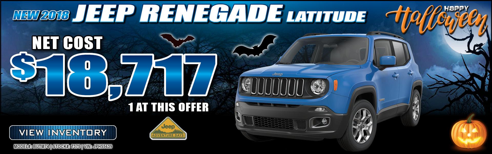 Jeep Renegade $18,717