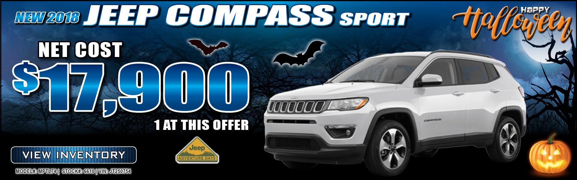 Jeep Compass $17,900