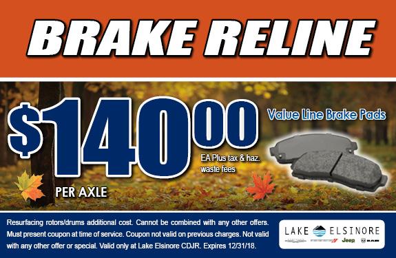 Brake Reline Coupon