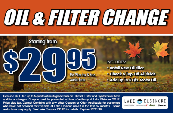 Oil & Filter Change Coupon