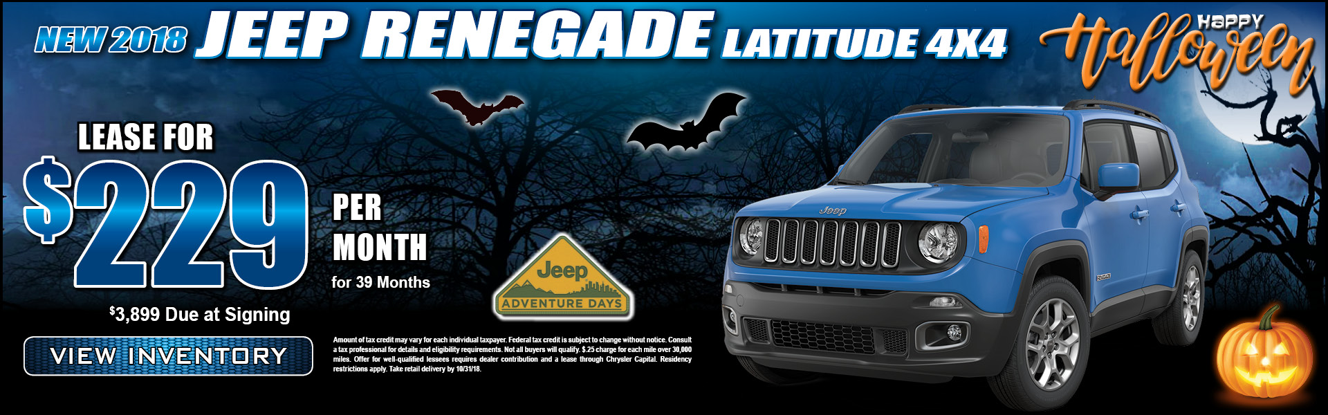 Jeep Renegade $299 Lease