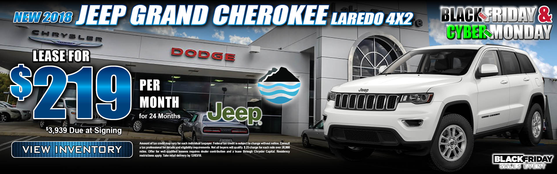 Jeep Grand Cherokee Laredo $219 Lease