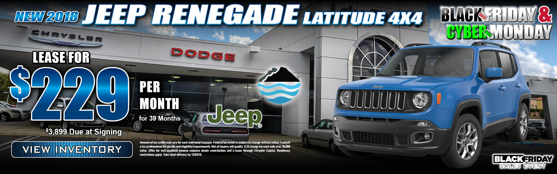 Jeep Renegade $229 Lease