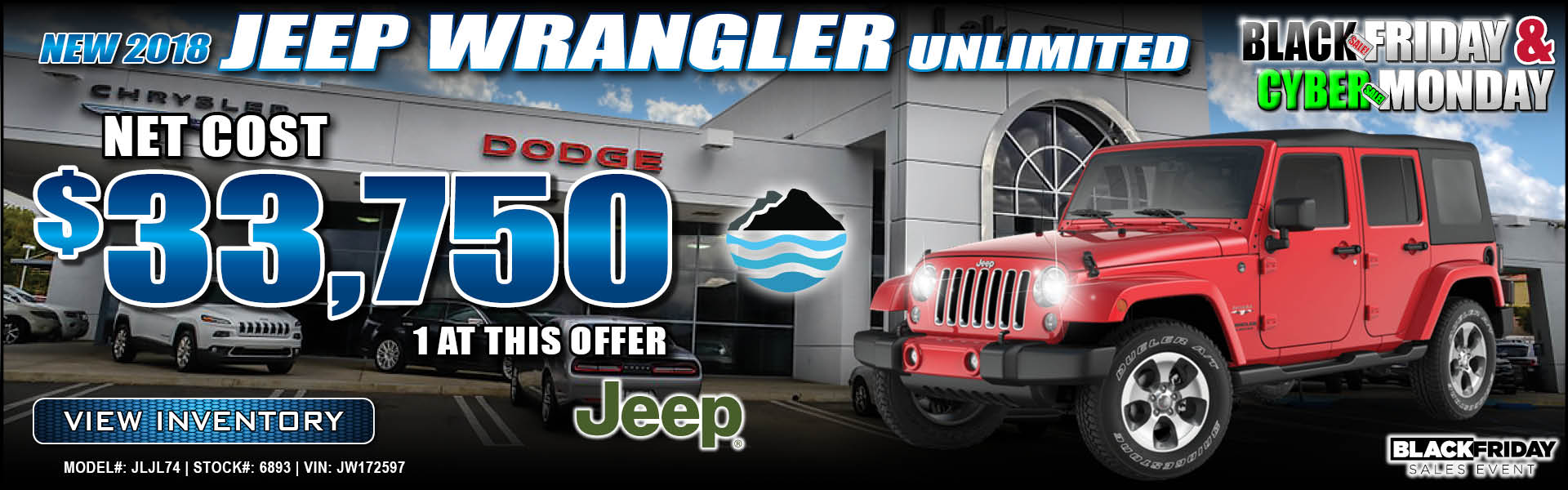 Jeep Wrangler Unlimited $33,750