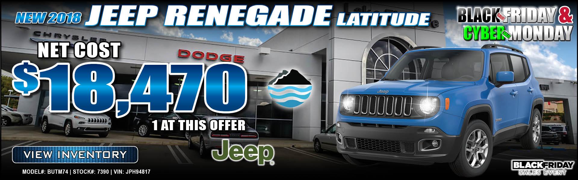 Jeep Renegade $18,470