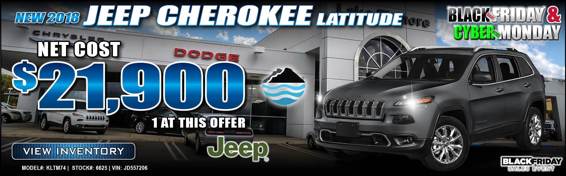 Jeep Cherokee $21,900