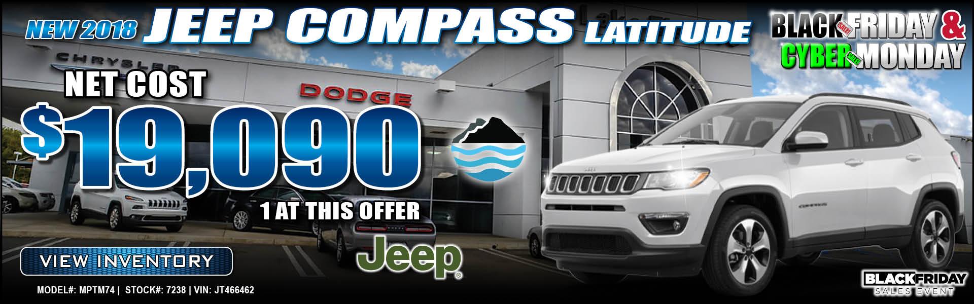 Jeep Compass $19,090