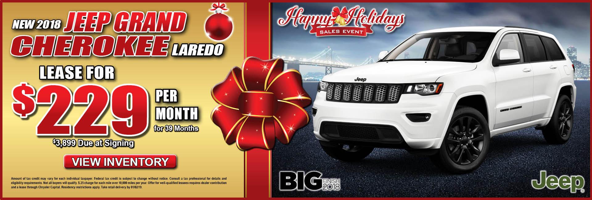 Jeep Grand Cherokee Laredo $229 Lease