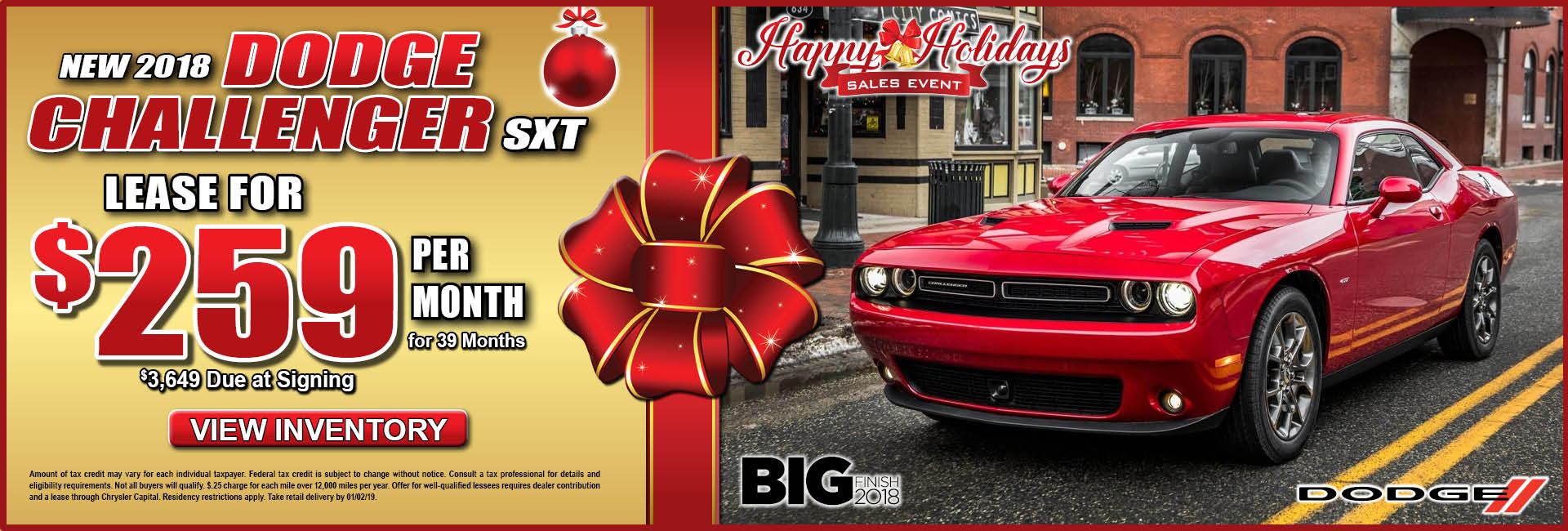 Dodge Challenger $259 Lease