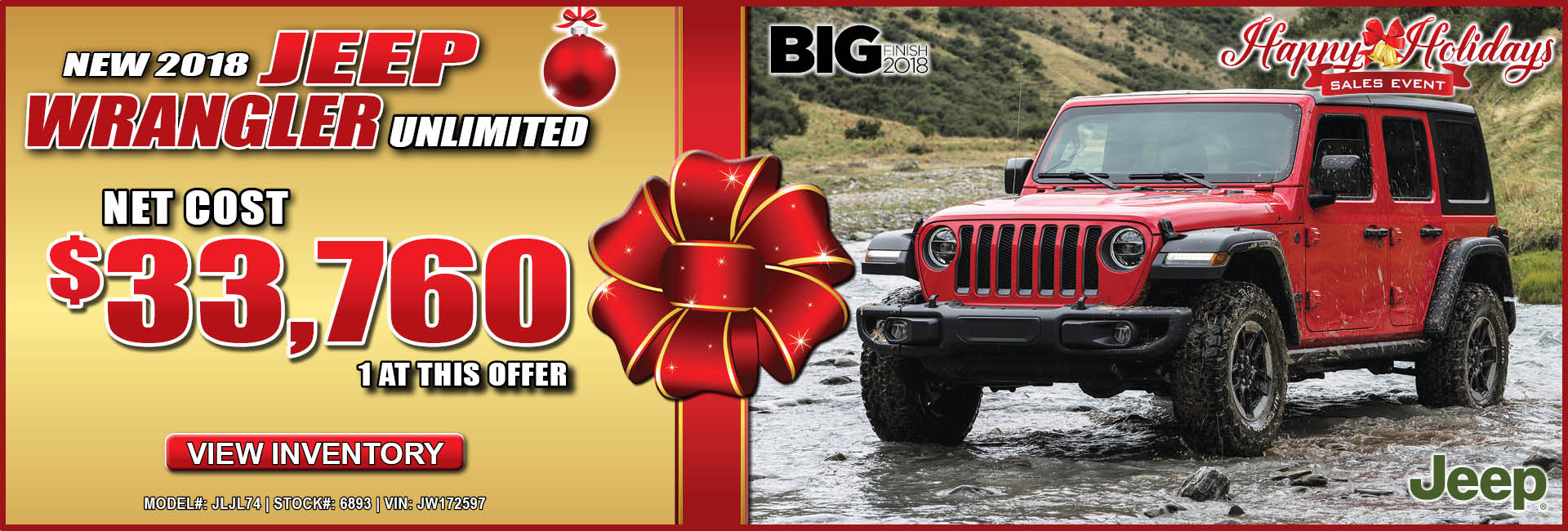 Jeep Wrangler Unlimited $33,760