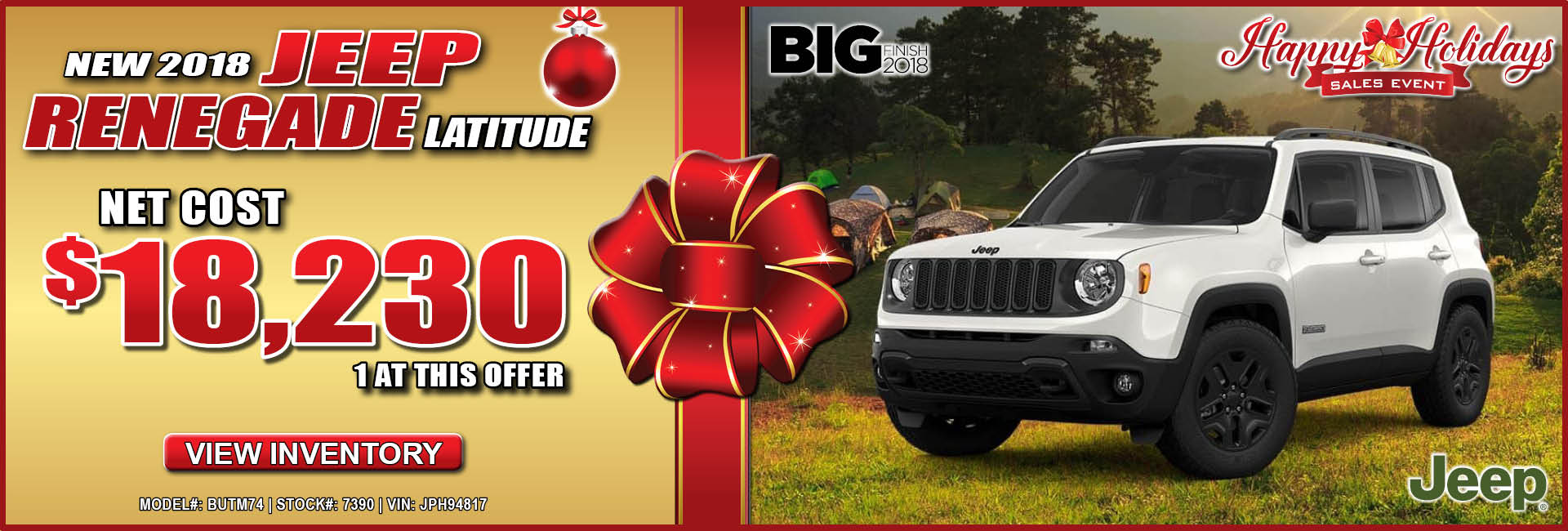 Jeep Renegade $18,230