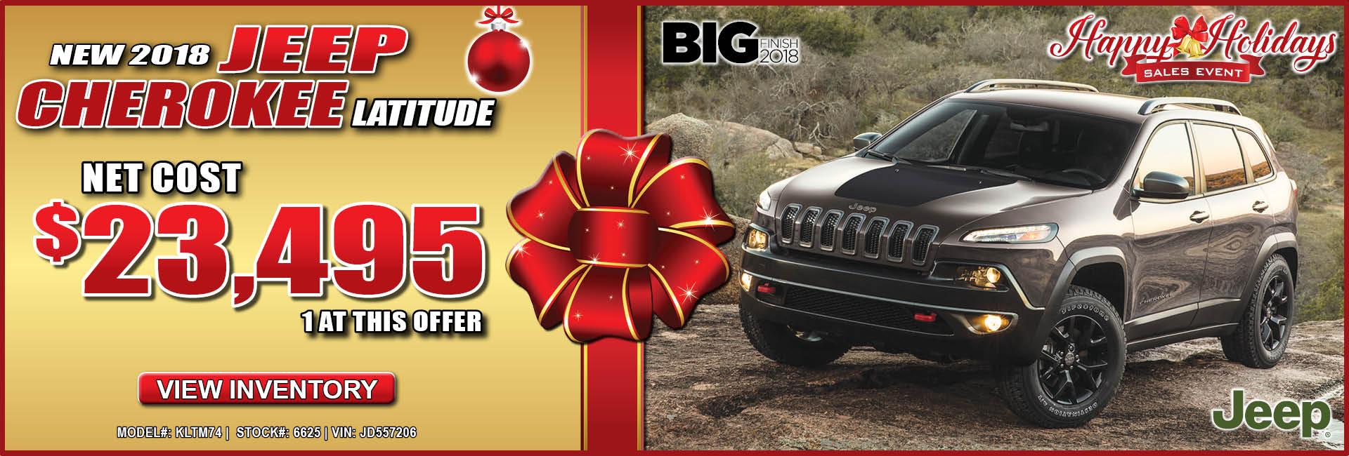 Jeep Cherokee $23,495
