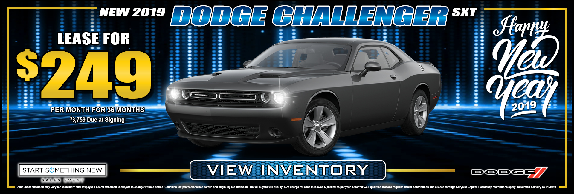 Dodge Challenger $249 Lease