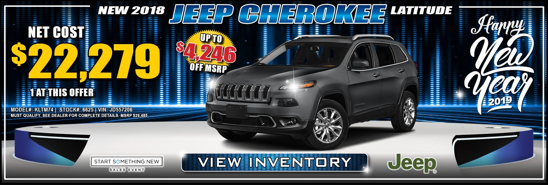 Jeep Cherokee $22,279