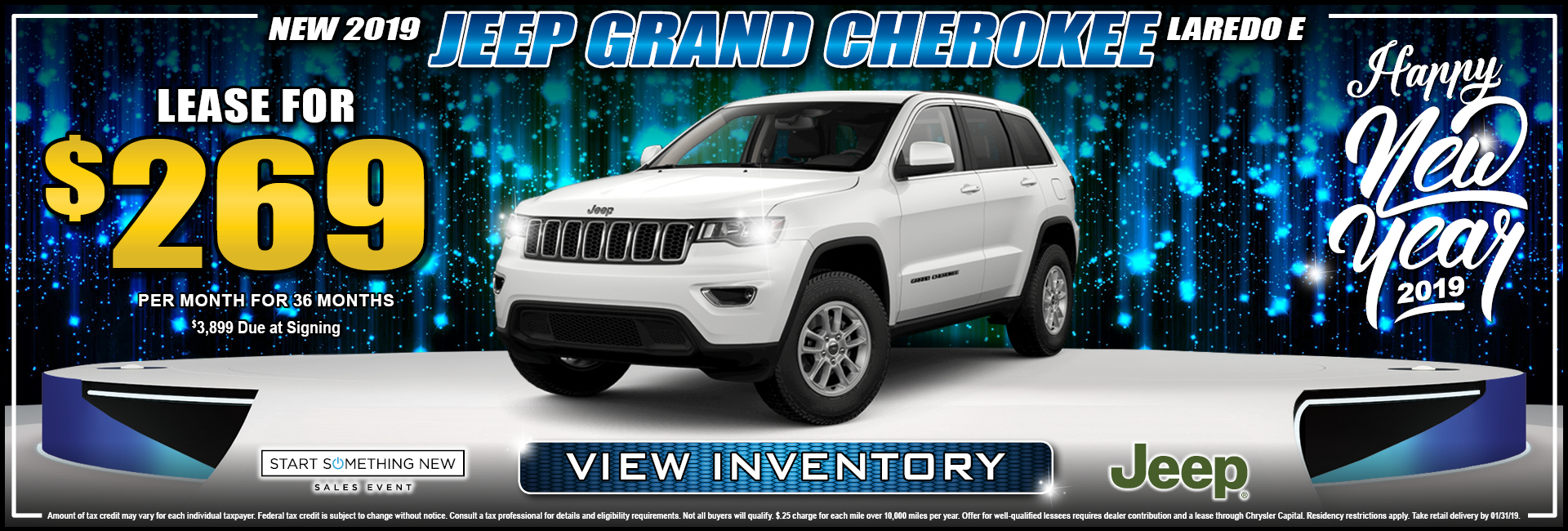 Jeep Grand Cherokee Laredo $269 Lease