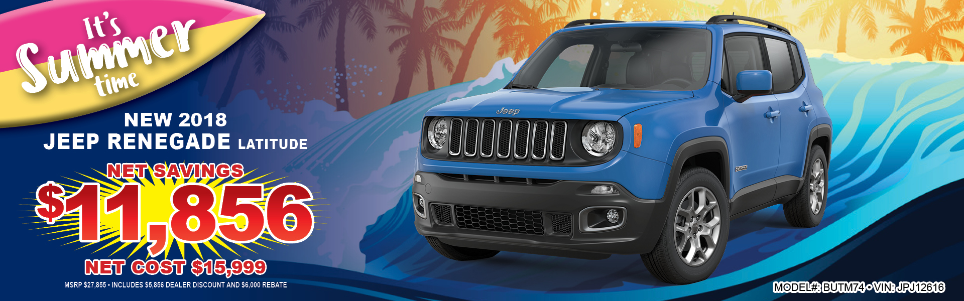 Jeep Renegade $15999