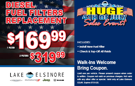 DIESEL FUEL FILTERS REPLACEMENT