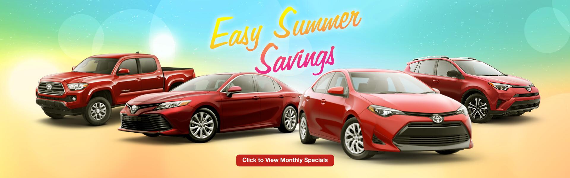 Toyota Easy Summer Savings